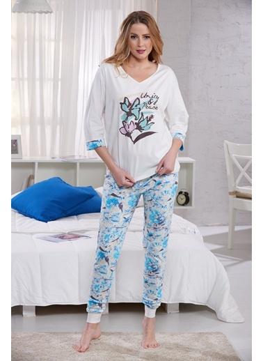 Baskılı Bayan Pijama Takım Sevim